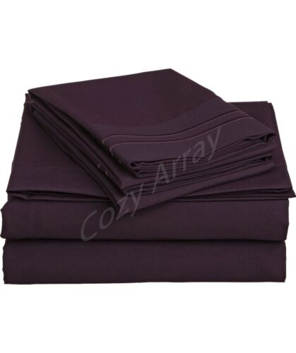 1500 THREAD COUNT 4 PIECE BED SHEET SET PERFECT CHRISTMAS GIFT