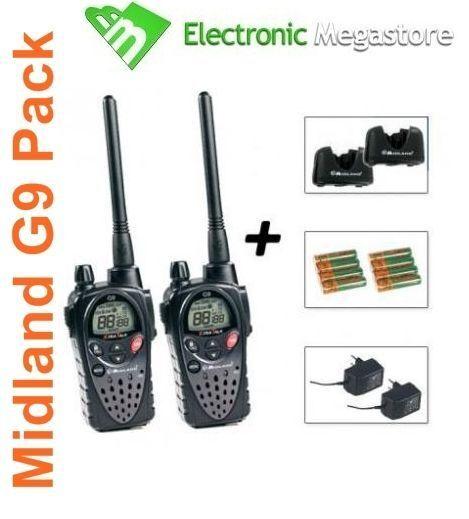 midland g9 plus  4 Radio Ricetrasmettitore Midland G9 Plus Pmr446/lpd C923.05 4 ...