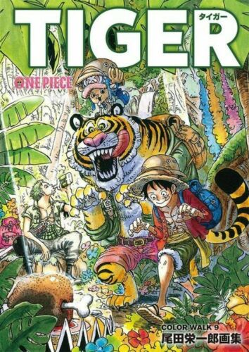 ONE PIECE COLOR WALK 9 TIGER Eiichiro Oda Illustration Japanese Book art anime