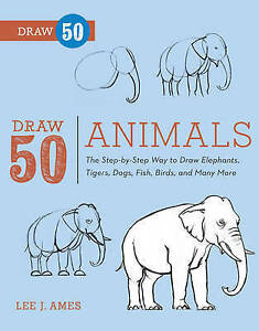Draw-50-Animals-Lee-J-Ames-Very-Good-Used-Book