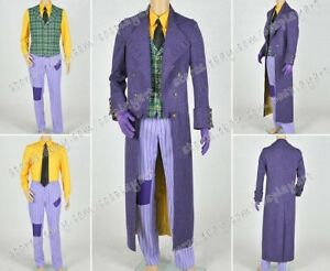 Image is loading Batman-Arkham-Origins-Blackgate-Cosplay-The-Joker-Costume- & Batman: Arkham Origins Blackgate Cosplay The Joker Costume Trench ...