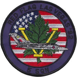 No LAST FEW 5 Squadron RAF Exercise Red Flag Las Vegas 1992 Embroidered Patch