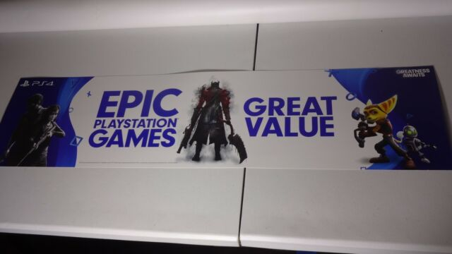 EPIC PLAYSTATION GAMES STORE SIGN PROMO DISPLAY | eBay