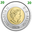 2020-New-Canada-Toonie-2-Dollars-BU-Coin-Polar-Bear-Bi-Metallic-UNC-2020 miniature 2