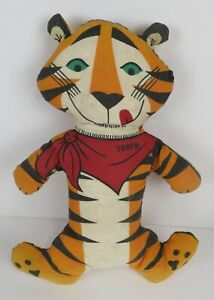 """Vintage Rare Tony the Tiger Plush 1973 Kellogg Cereal Promo Toy """"They're Great"""""""
