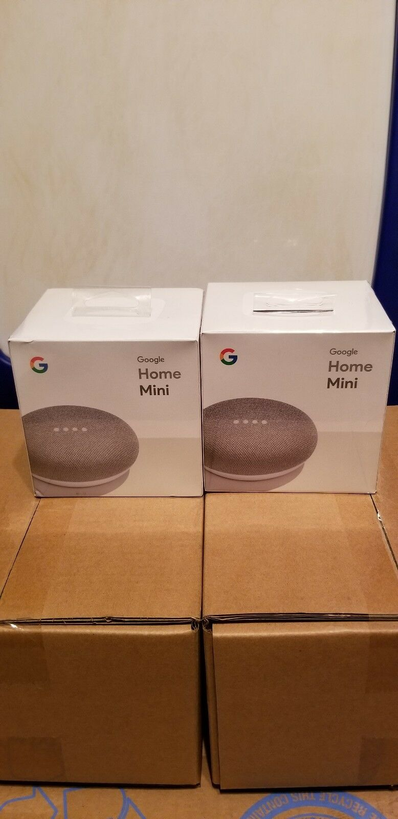 Google Mini lot of 2 - Google Personal Assistant - Chalkl- Sealed Brand New