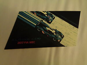 CARD-WEC-LE-MANS-SERIES-SPA-2017-ALPINE-A47-35-amp-36