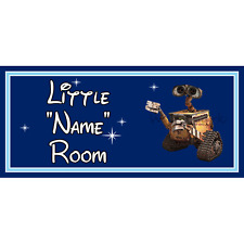 Personalised Little Robot Kids Bedroom Door Sign / Plaque – Disney Wall-E DB