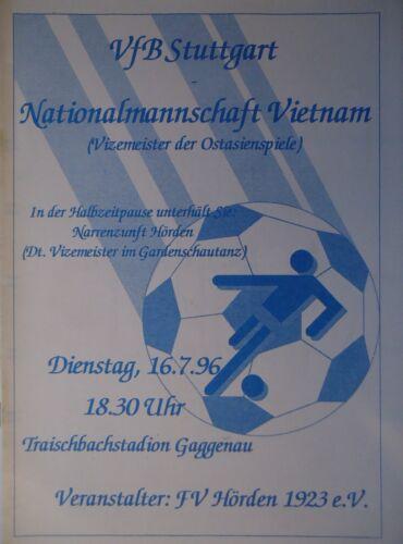Programm Friendly 16.7.1996 VfB Stuttgart Nationalmannschaft Vietnam