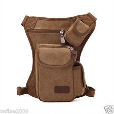 Man Sport Leg Bag Multifunction Outdoor Canvas Waist Bag Money Belt Fanny Pack