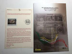 2019-Italia-Vaticano-Bollettino-Illustrativo-e-Folder-90-Patti-Lateranensi