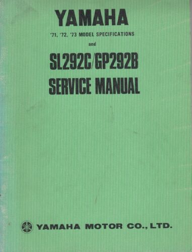 1971.1972.1973 YAMAHA SNOWMOBILE SL292C / GP292B SERVICE MANUAL (015)