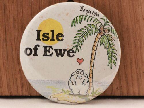 """Hallmark /""""Isle of Ewe/"""" 2.5 IN Pin Back Button"""