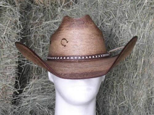 """CHARLIE 1 HORSE /""""COMANCHE/"""" PALM COWBOY WESTERN HAT"""