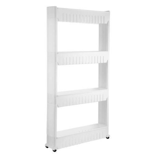 Rolling 3//4 Tiers Kitchen Storage Cabinet Shelf Slim Can Spice Rack Holder Cart