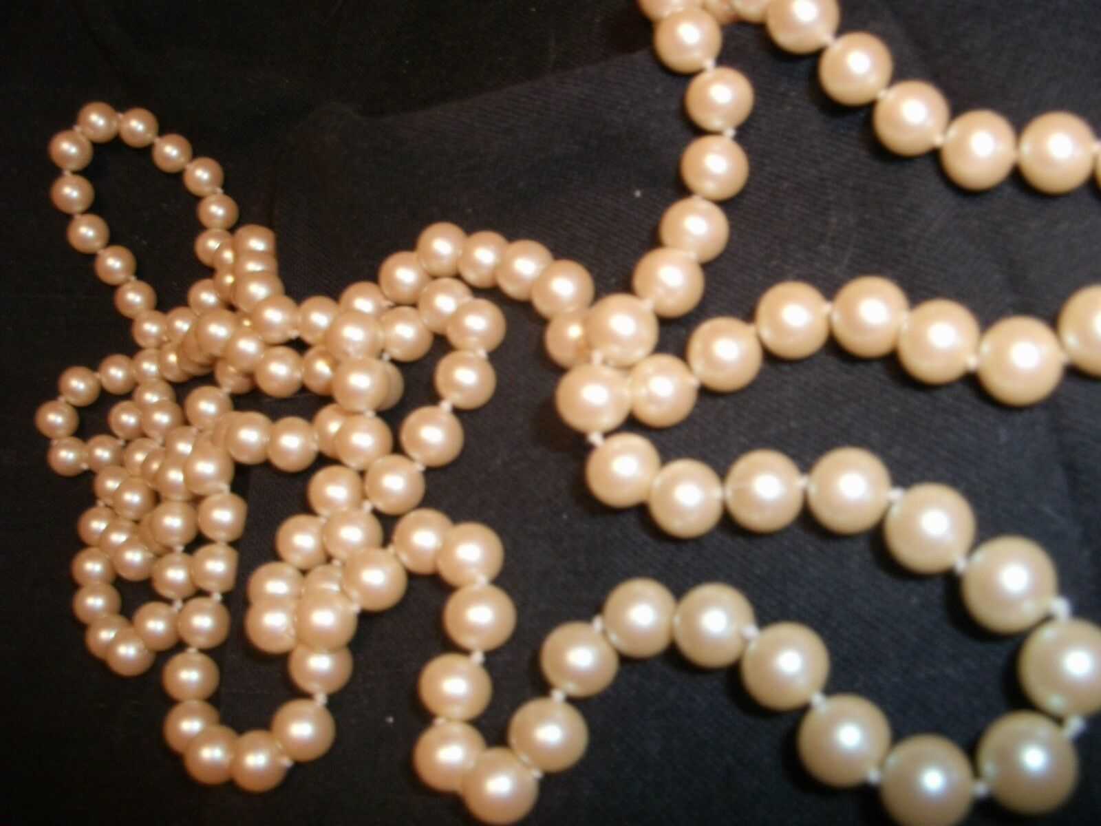 PEARLS - ROSY-PINK 54  OPERA LENGTH W INDIVIDUAL KNOTTING