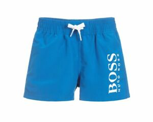 9886844004762 Hugo Boss Baby's J04325 76N Boys Summer Beach Logo Swim Shorts Blue ...