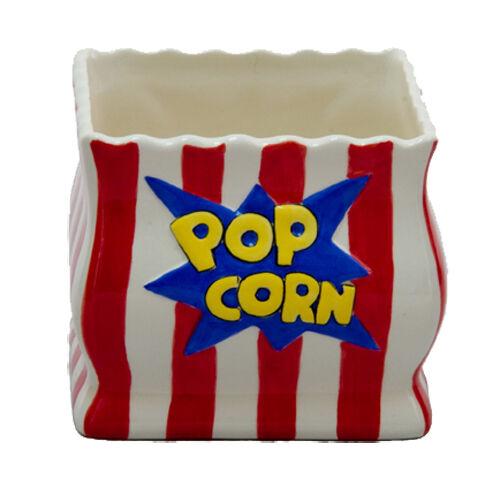 Container Basket Novelty Ceramic Square Popcorn Bowl