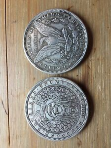 HOBO-Silver-Novelty-Morgan-US-Skull-Dollar-COIN