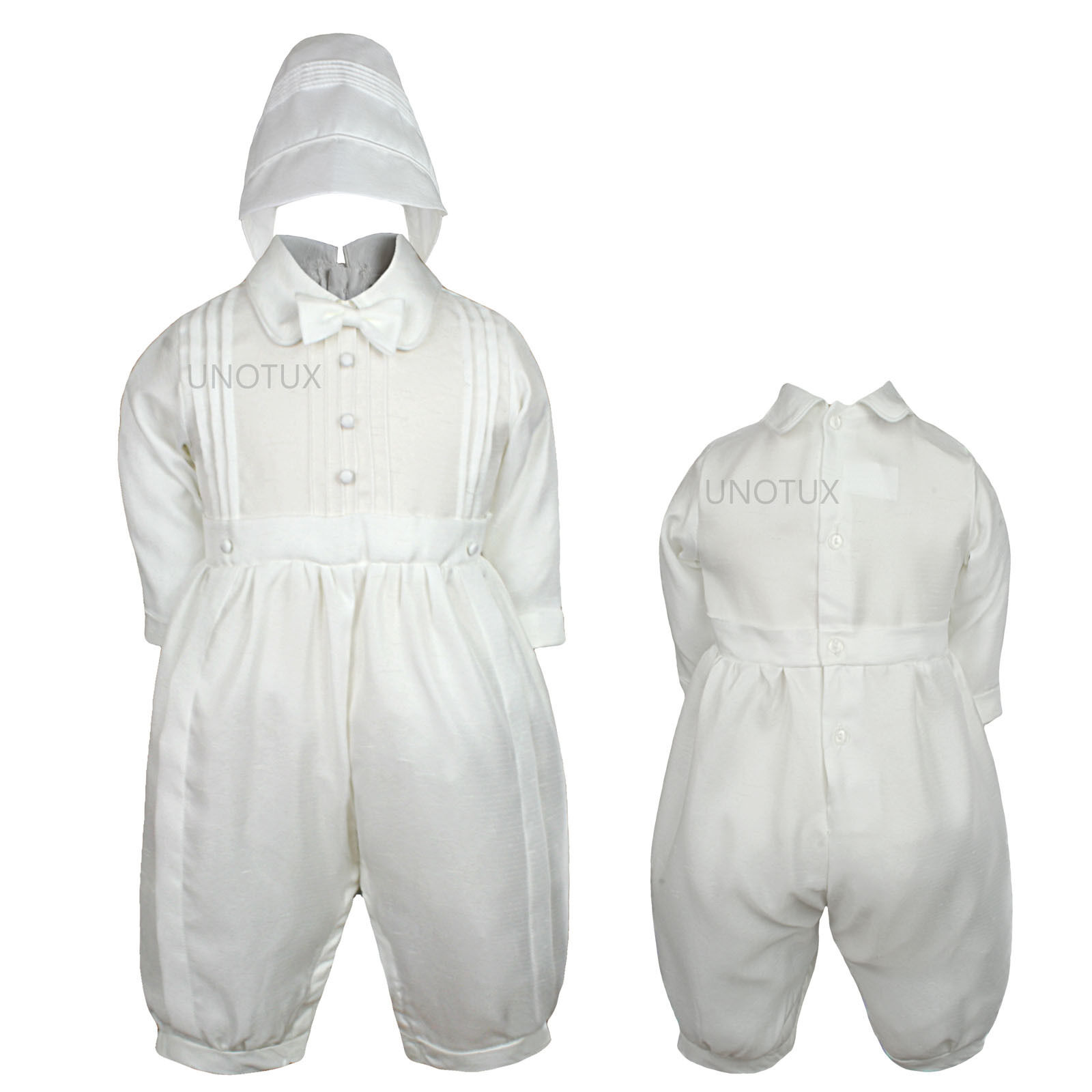 New Baby Boy /& Toddler Baptism Christening Romper Suit size:12 M to 30 M White