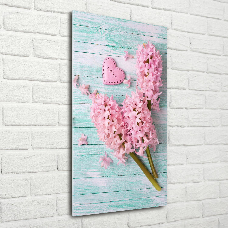 Wandbild Druck auf Plexiglas® Acryl Hochformat 70x140 Lila Blaumen