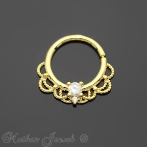 SIMULATED-DIAMOND-14K-YELLOW-GOLD-IP-NOSE-SEPTUM-TRAGUS-CARTILAGE-HOOP-RING
