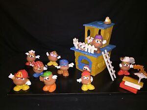 Vintage Playskool '86 Mr. Potato Head Kids Club House 3 Kids & Wendy's Set of 6
