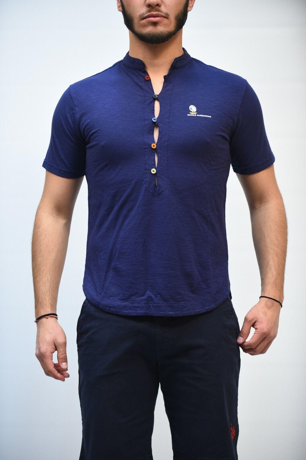 T-hemd  - 30% DANIELE ALESSANDRINI herren M6479E6473900 Blau MADE IN ITALY