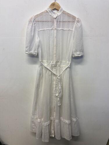 Vtg Gunne Sax White Size 9 1980's Jessica McClinto