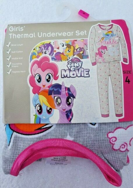 Mlp in panties base My Little Pony Girls Thermal Underwear Long Johns Waffle Knit Base Layer Size 4 For Sale Online Ebay