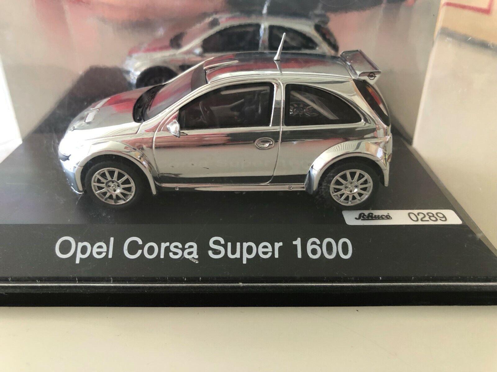 Schuco 1 43 Opel Corsa C súper 1600 Rallye cromo, limitado, rar
