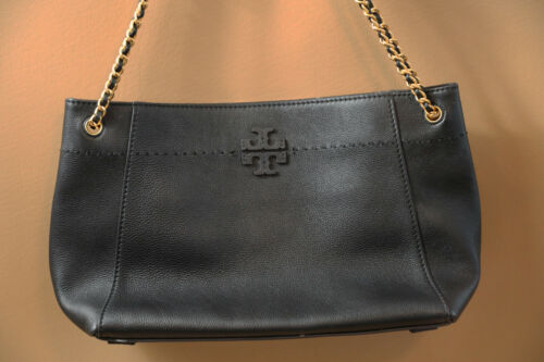9a7ccab3dd1 44 TORY BURCH McGraw Slouchy Leather Shoulder Bag RETAIL $498 ...