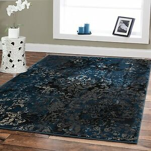 Image Is Loading Luxury Area Rugs 8x10 Navy Dark Blue Contemporary