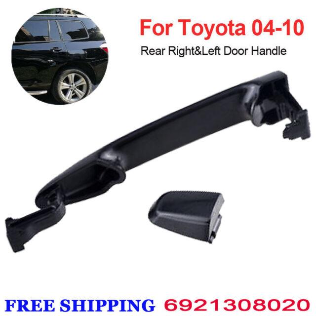 2PCS Rear Left/&Right Outside Sliding Door Handle For Toyota Sienna Black Primed
