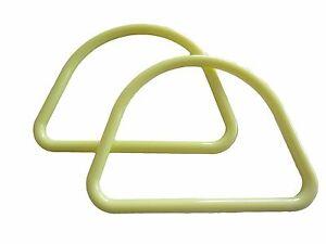 "6 Pair of 7"" D Lemon Yellow Marbella Plastic Macrame Craft Handbag Purse Handles"