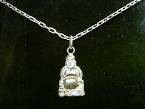 Precious Metal Without Stones Fine Jewelry Delicious Chain 19 11/16in With Buddha 925 Silver Complete Range Of Articles