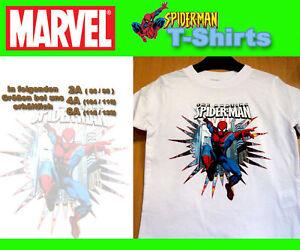 NEU-MARVEL-Spiderman-T-Shirt-weiss-Groesse-nach-wahl