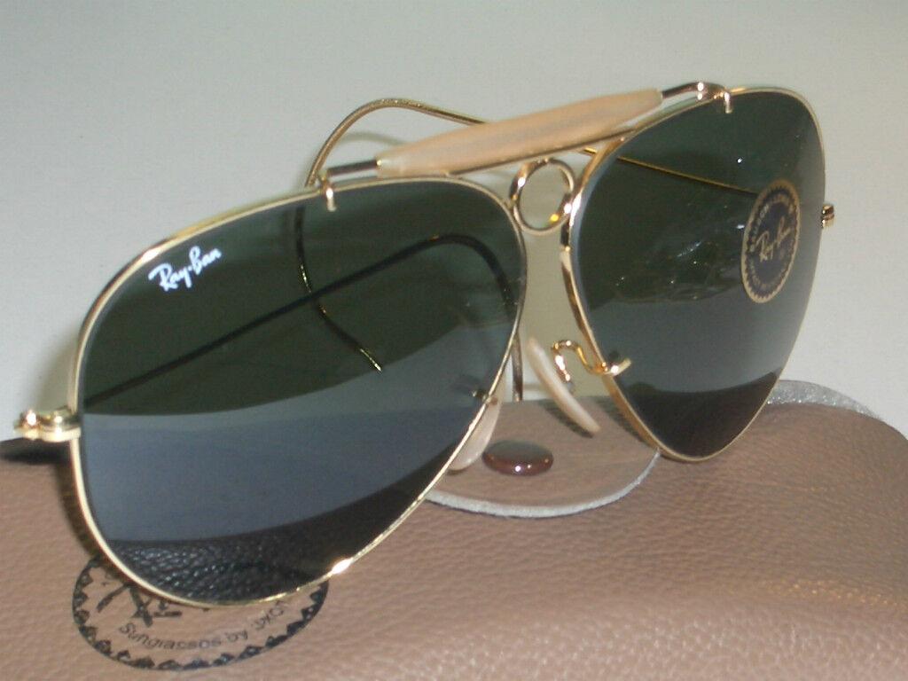 2d7c6d9a5e7 Vintage B l Ray Ban USA GP G15 Shooting Shooter Aviator Sunglasses ...