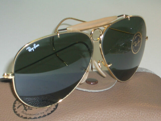 f6c23212369 VINTAGE B L RAY BAN USA G15 SHOOTING SHOOTERS AVIATOR SUNGLASSES (NEW OLD  STOCK)