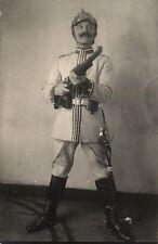 14945/ Originalfoto 9x13, Kürassier zu Fuß, Gewehr im Anschlag, Lüttich 1914
