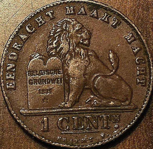 1912 BELGIUM 1 CENT ALBERT