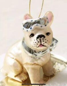 French Bulldog Christmas Ornament.Details About West Elm Glass Pug Or French Bulldog Christmas Ornament