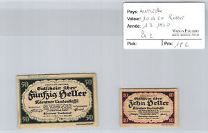 2 Tickets Austria 10 And 50 Heller 1.3.1920