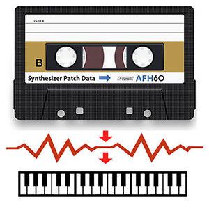 Reset Sound Data: Korg DW-6000 Data Cassette Tape