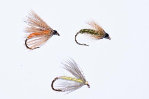 18 Wet Trout Fly Fishing Flies,Partridge /&Orange,Greenwell Spider Waterhen Bloa
