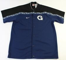 Mens L Large Nike Button Up Georgetown Hoyas Jersey Warm Up Basketball