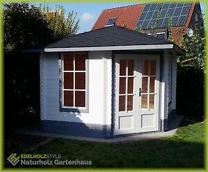5 Eck Gartenhaus Blockhaus Ohne Fussboden 3x3m Holz Pavillon 28mm