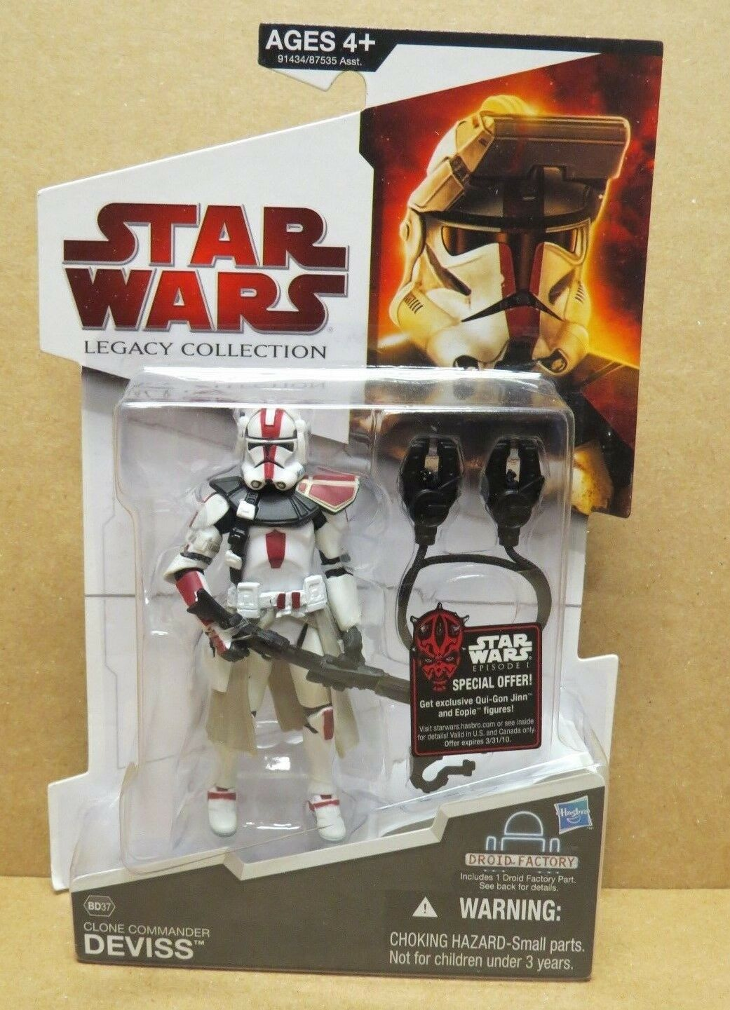 STAR STAR STAR WARS LEGACY COLLECTION CLONE COMMANDER DEVISS ACTION FIGURE SEALED  BD37 831cf2