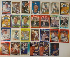 ROBIN-YOUNT-LOT-of-27-cards-1988-1993-HOF-Milwaukee-Brewers-topps-studio-NM-leaf