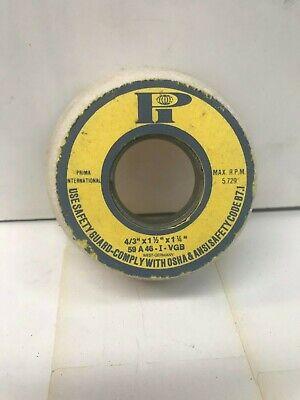 GW012-B-2 Prima 8x1//2x1-1//4 59A46-JVGB White Grinding Wheels 2 Pc